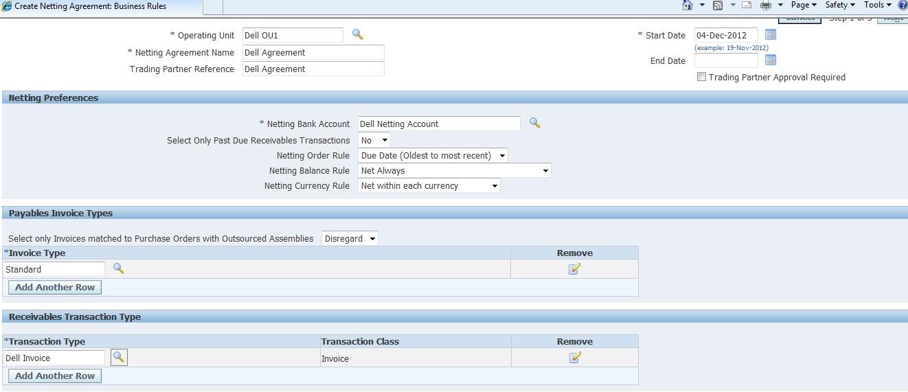 Oracle Applications Apar Netting Setups In Oracle R12