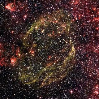 Supernova Remnant W44 infrared