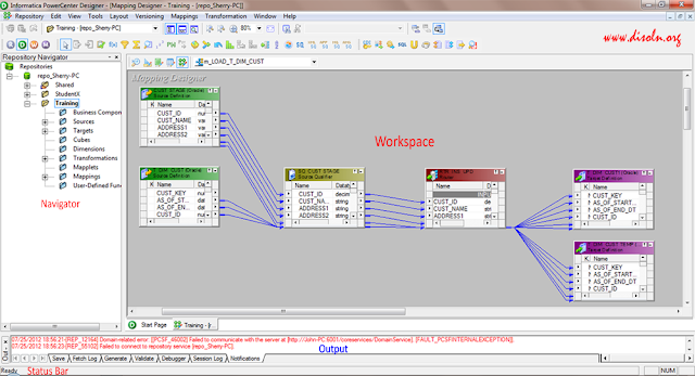 Informatica Powercenter Designer User Interface