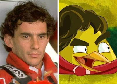 Ayrton Senna vira personagem do game Angry Birds Go!