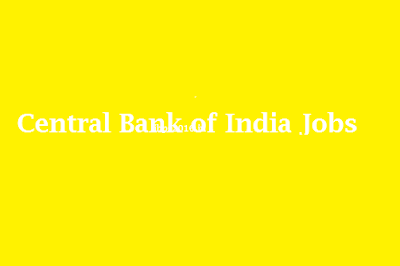 Central Bank of India Jobs 2016