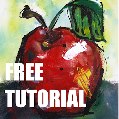 Paint an Apple with Spunk FREE tutorial