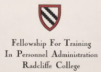 """Radcliffe College Announcement of Fellowship for Training in Personnel Administration, April 1, 1937. Harvard-Radcliffe Program in Business Administration Records. Radcliffe College Archives, Schlesinger Library, Radcliffe Institute, Harvard University."""