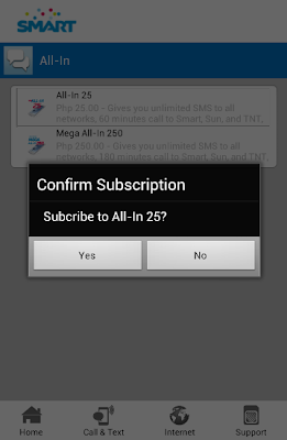 Smart Android App for Service Subscription
