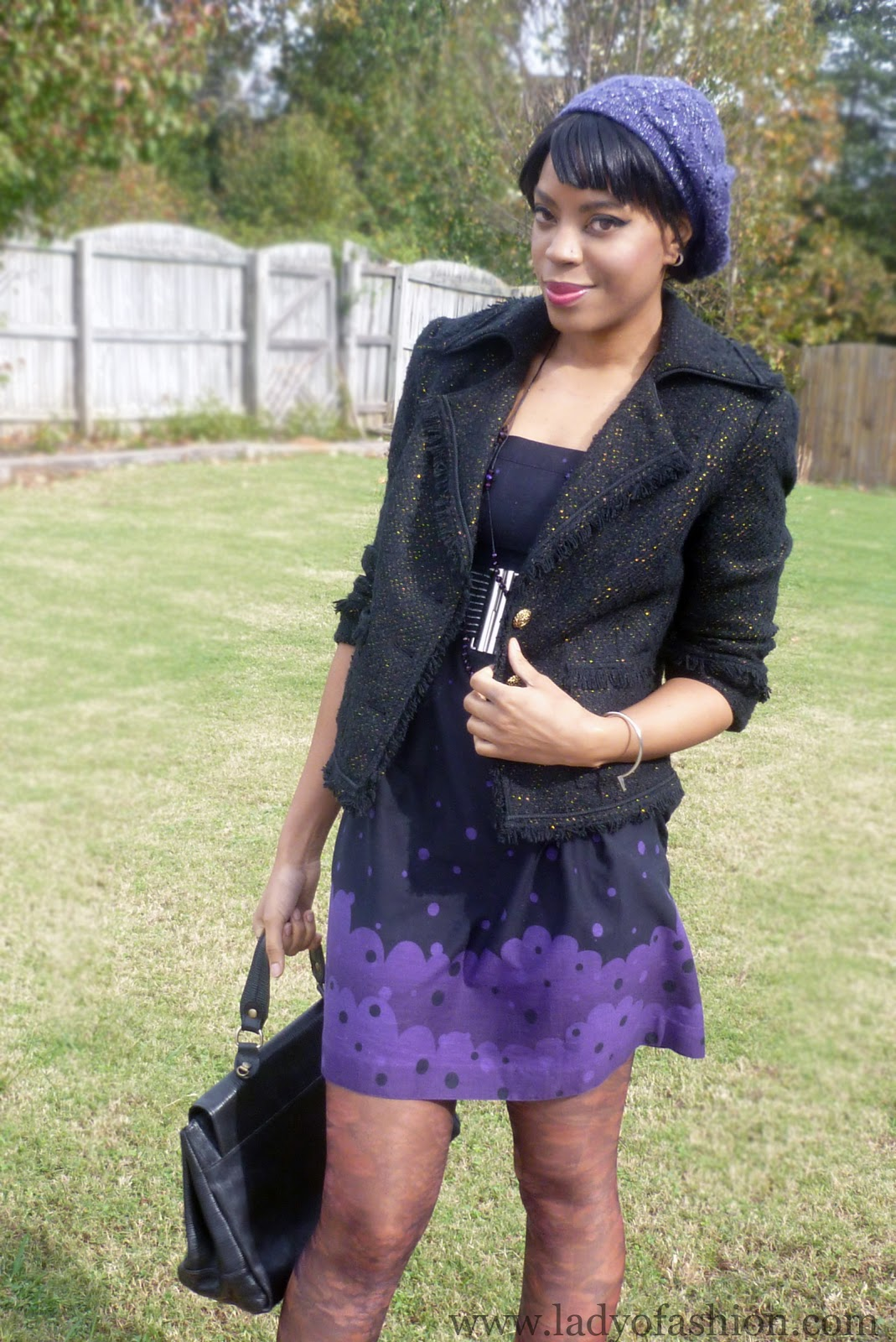 Fashion Blogger Style Purple