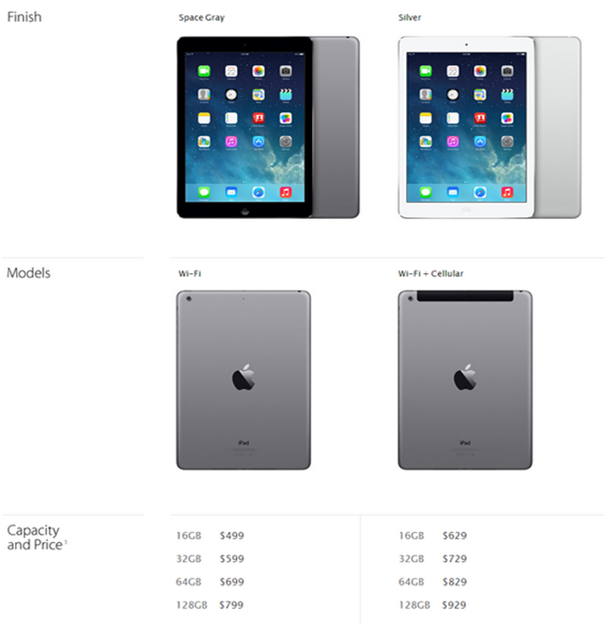Apple Outs Ipad Air The Lightest Full Sized Tablet In The