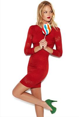 Blanco otoño invierno 2012 2013 catálogo mujer vestidos rojos