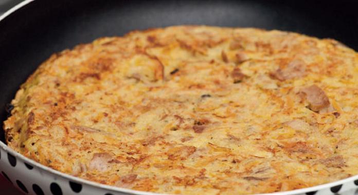 Omelete de atum com legumes light