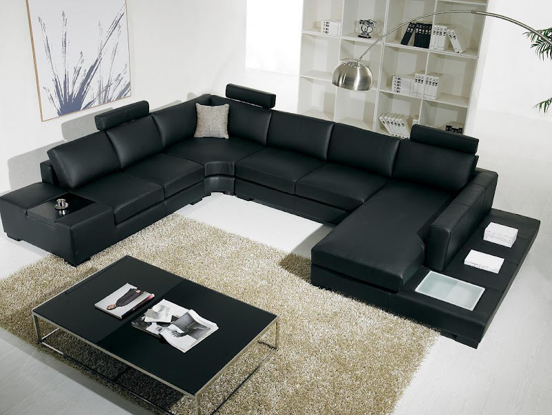 Black Living Room Furniture Sets (7 Image)