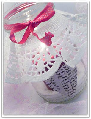 Glass Jar Valentine Candle Holder