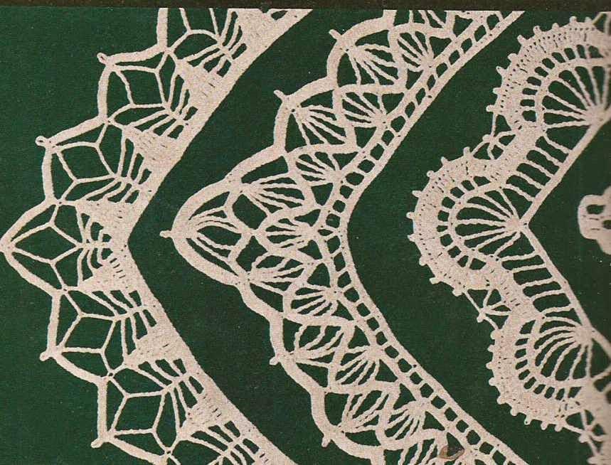 Patrón #399: Encajes y puntillas para manteles a Crochet Encajes y ...