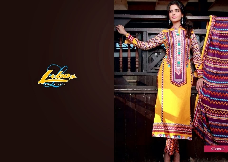 Yellow Traditional Designing Lawn Dresses