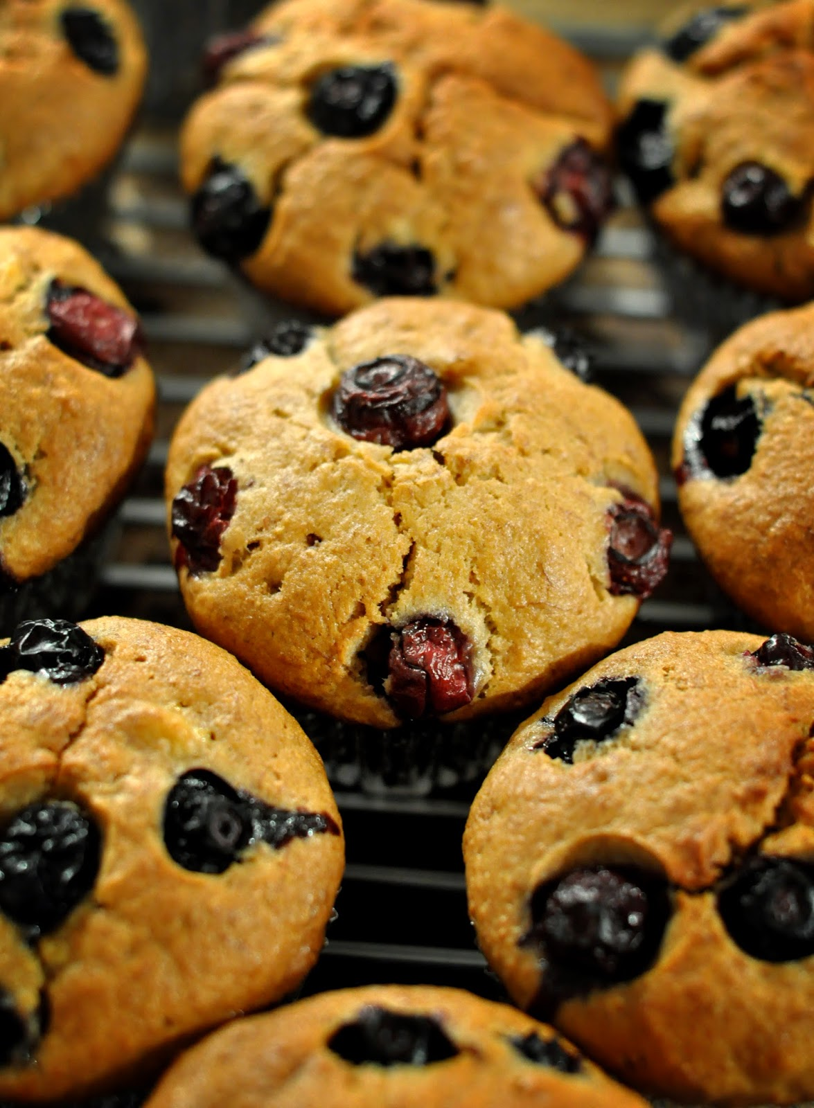 banana blueberry muffin, no butter, super easy