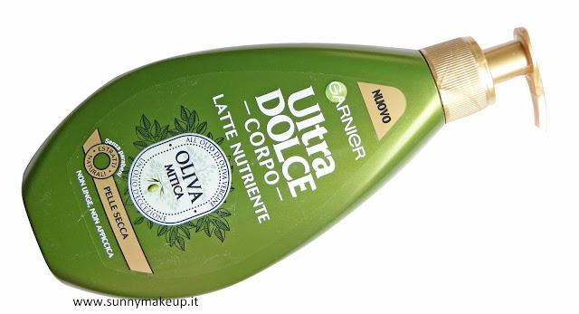 Garnier Ultra Dolce Corpo. Linea Oliva Mitica. Latte Nutriente, Olio Secco.