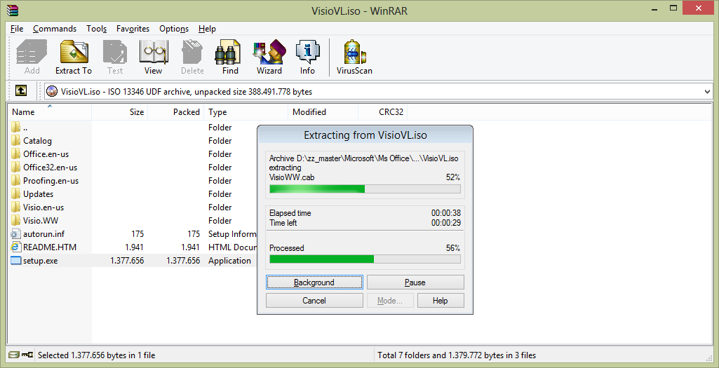 Setelah di extract tinggal jalankan Setup.exe, masukan SN/Key MAK