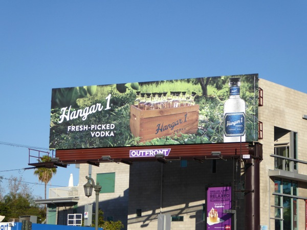 Hangar 1 fresh-picked vodka billboard