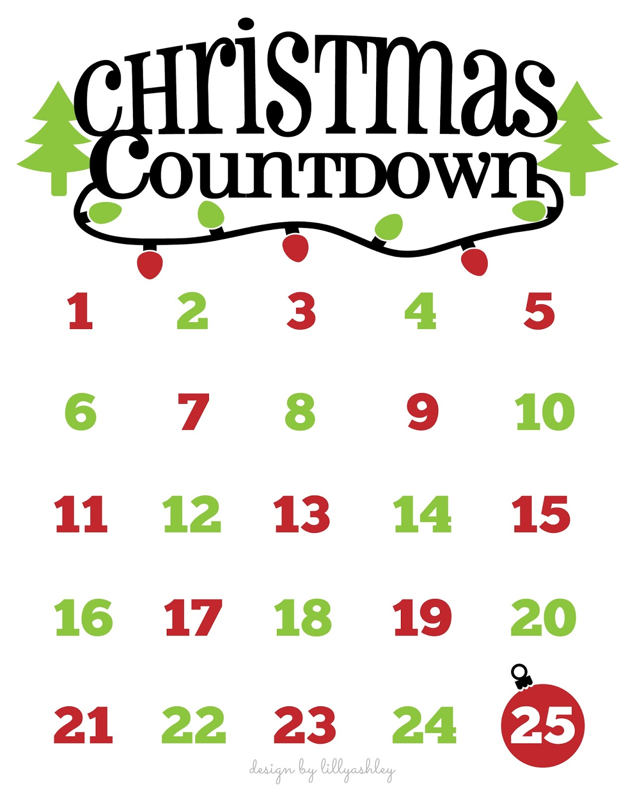 Christmas Calendar Pictures : Make it create by lillyashley freebie downloads