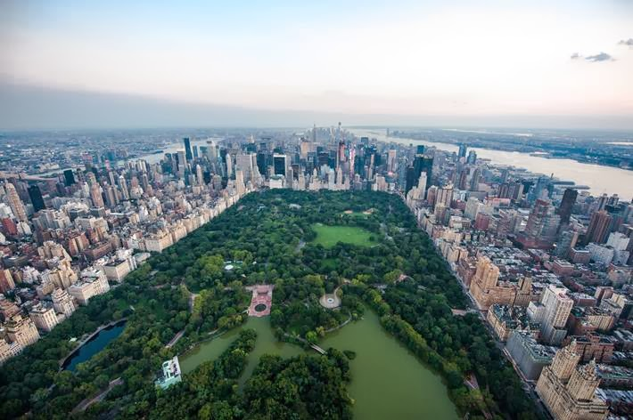 Aerial View of  Central Park - New York