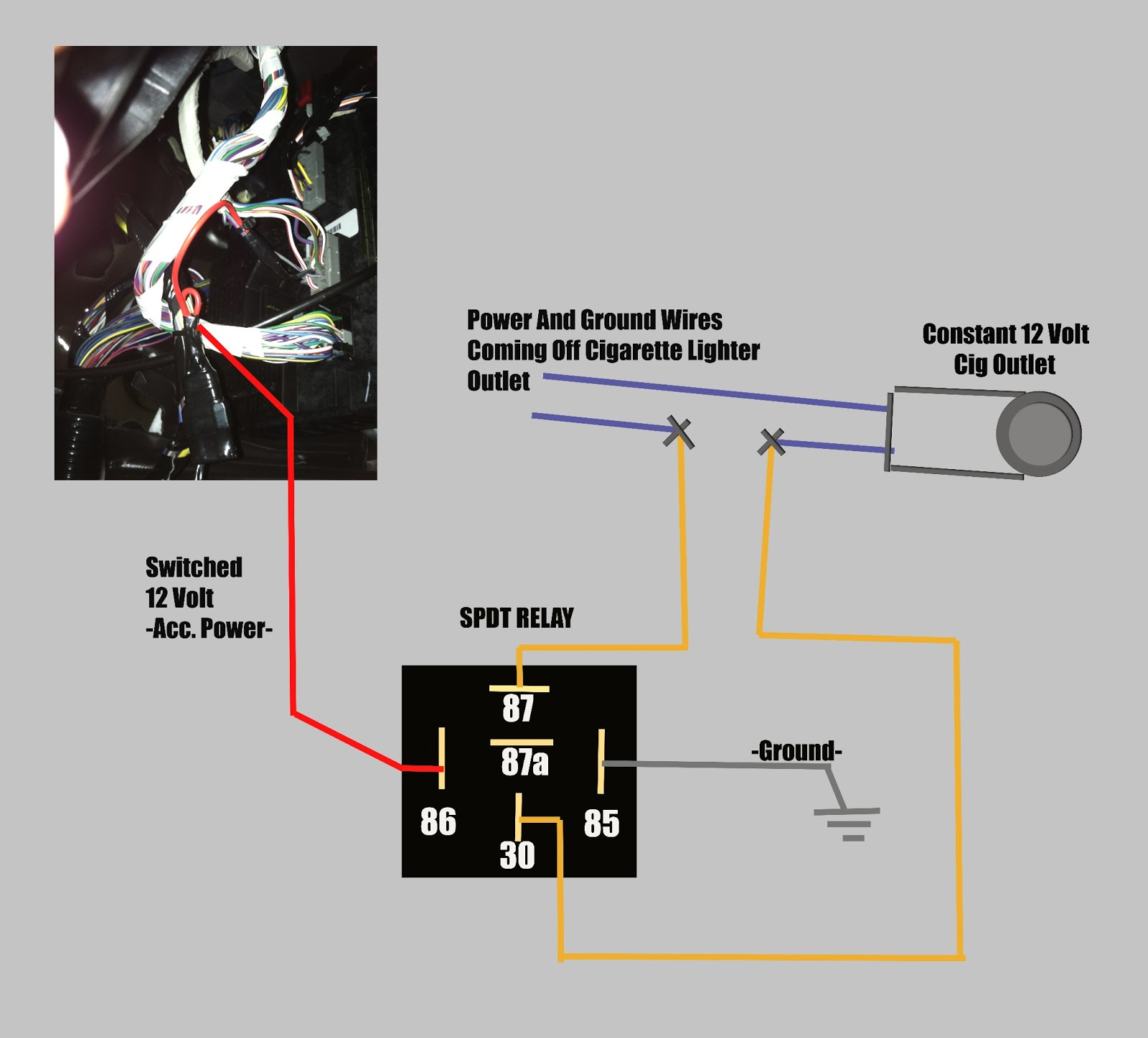 Casco 12v Power Schematic Wiring Library Diagram For Remote Starter Solenoid Car Audio Tips Tricks And How Tos Turn Cigarette Outlet From 12 Volt