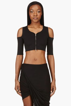 http://www.ssense.com/women/product/damir_doma/black_cropped_cut-out_zip_blouse/94145