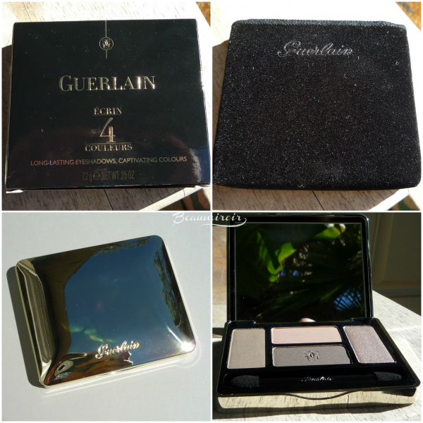 Guerlain Ecrin 4 Couleurs Les Fumes: the packaging, the compact, the velvet pouch
