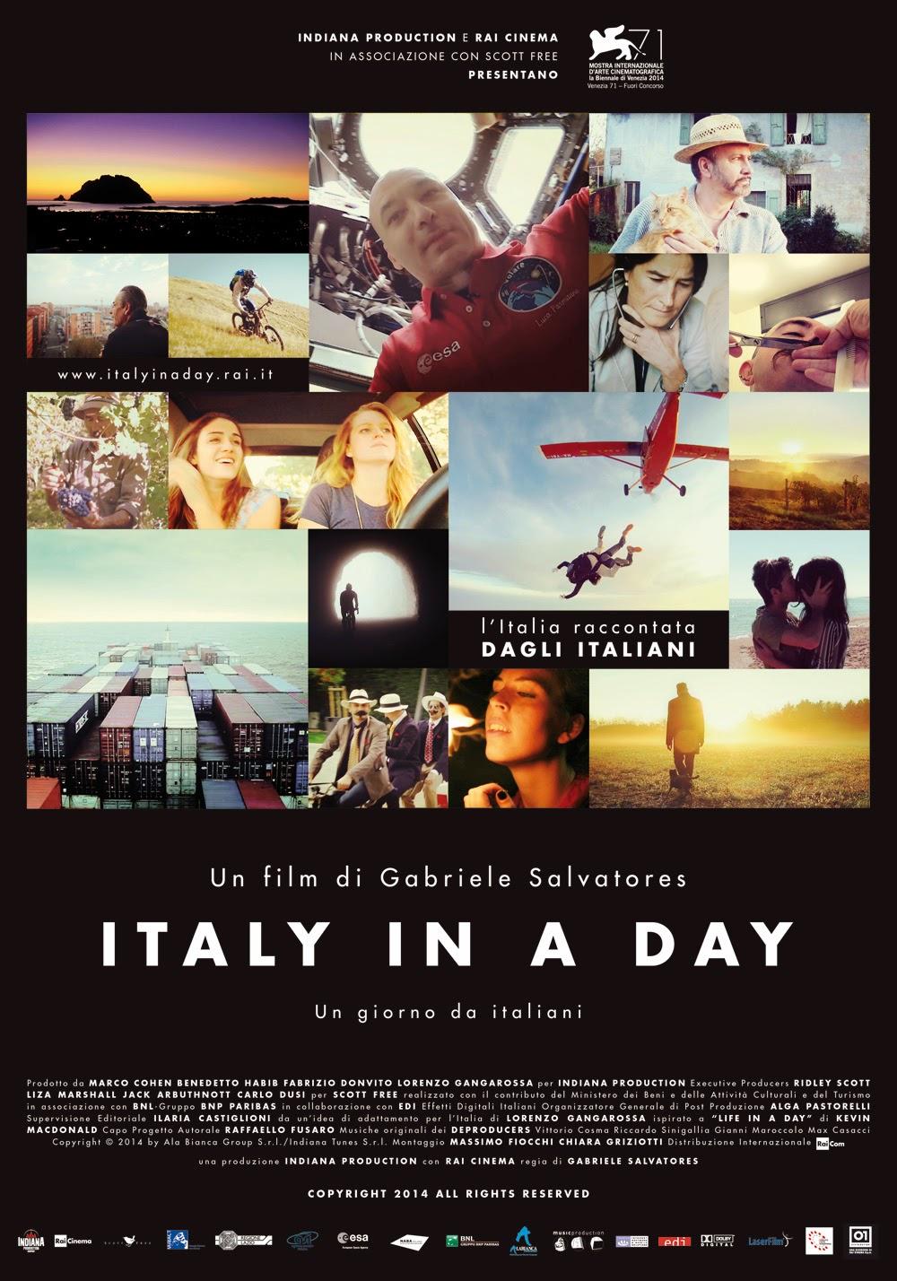 Italy in a day, alimentos para tu mente, Salvatores, cine, peliculas