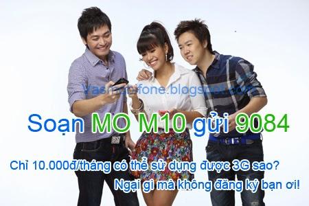 Gói cước 3G rẻ  nhất của Mobifone