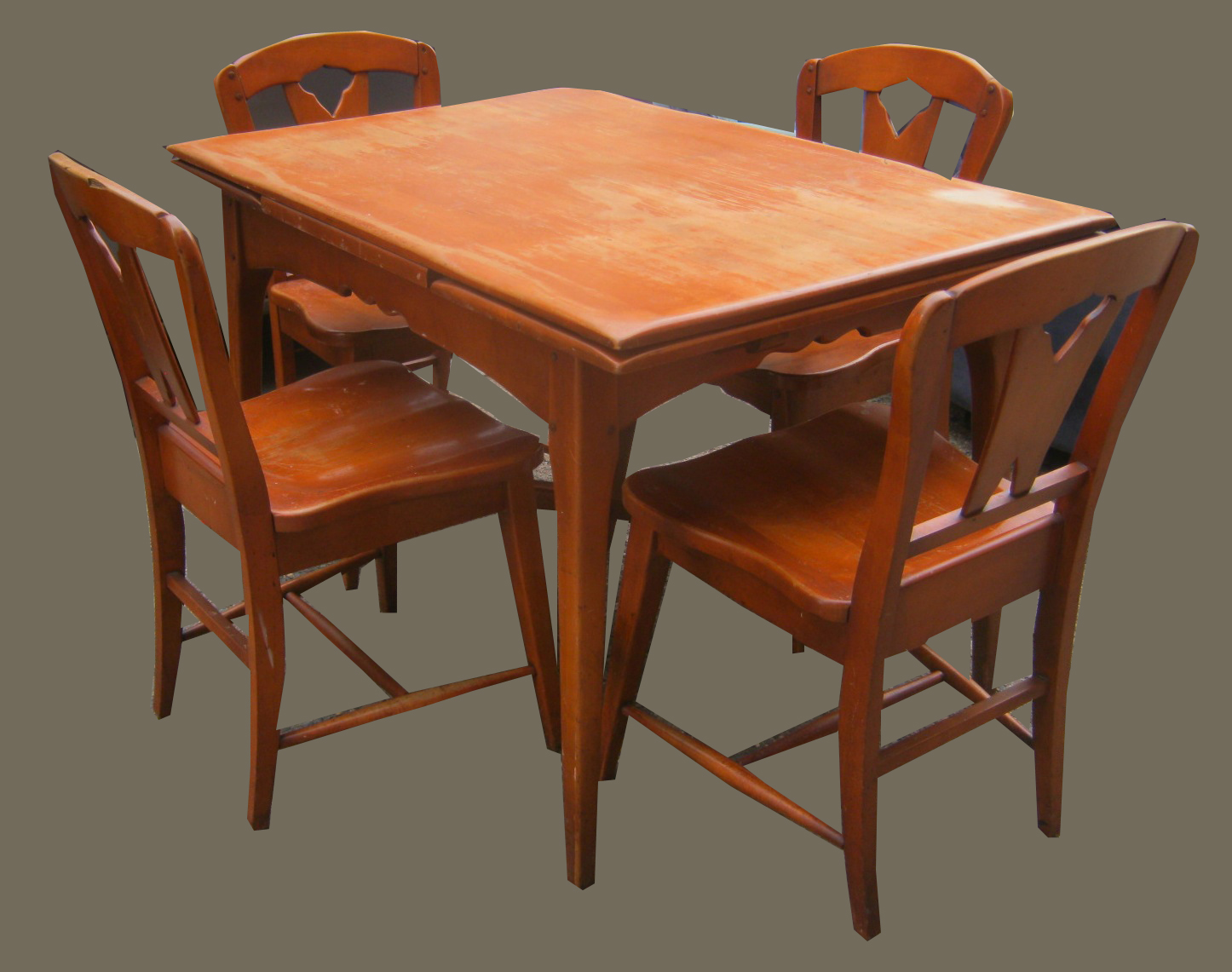 1950u0027s Maple Dining Table W/5 Chairs  SOLD