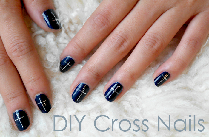 Dot the I's and Cross the T's:: DIY Cross Nails - Deconstrut: Dot The I's And Cross The T's:: DIY Cross Nails