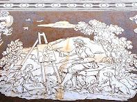 Esgrafiat representatiu de l'art del pintor