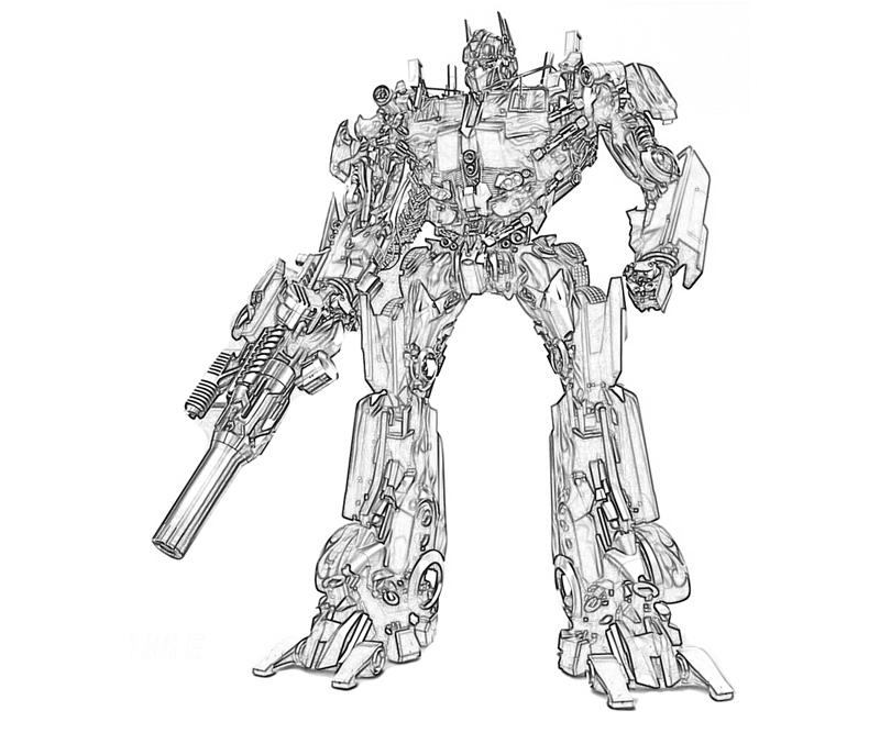 Printable Transformers Fall of Cybertron Optimus Prime Toys Coloring  title=