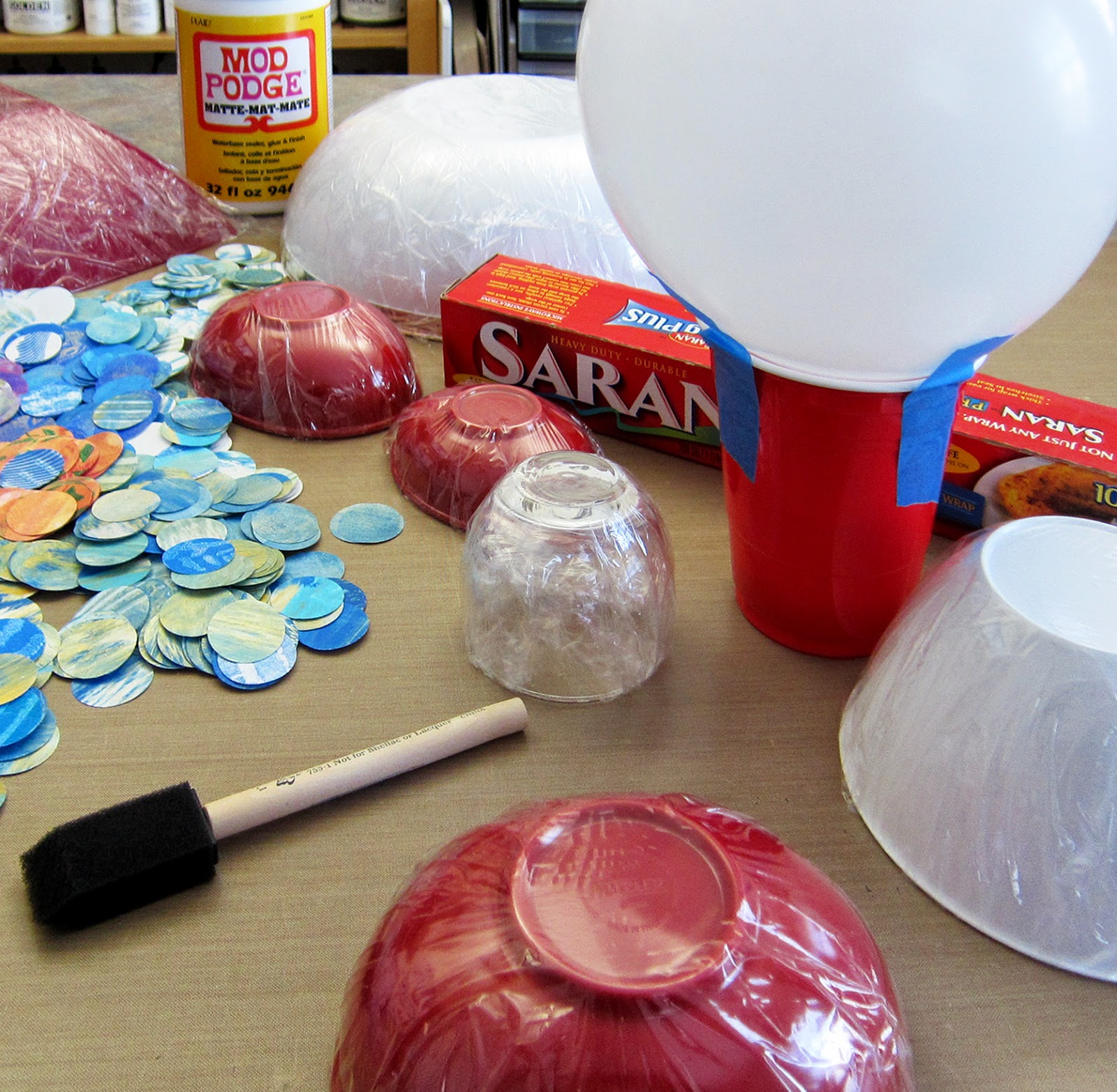 Printing with gelli arts paper mache bowls with gelli for Buy paper mache glue