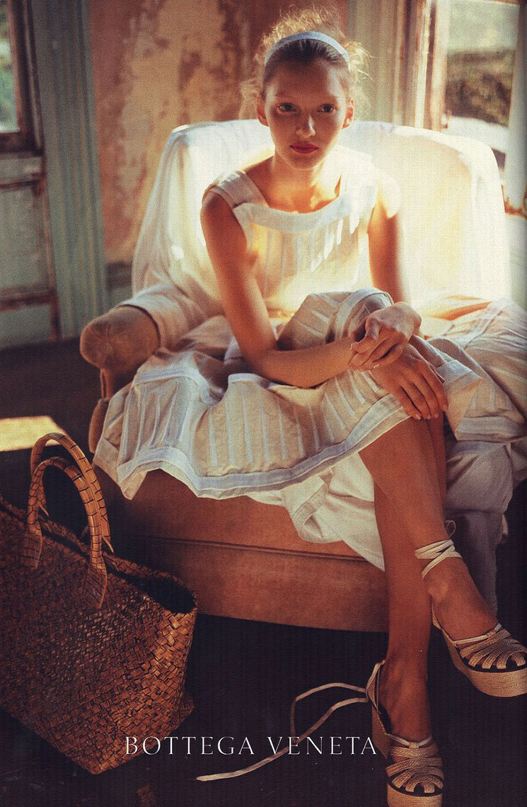 via fashioned by love | Anya Kazakova photographed by Nan Goldin for Bottega Veneta Spring/Summer 2010 campaign
