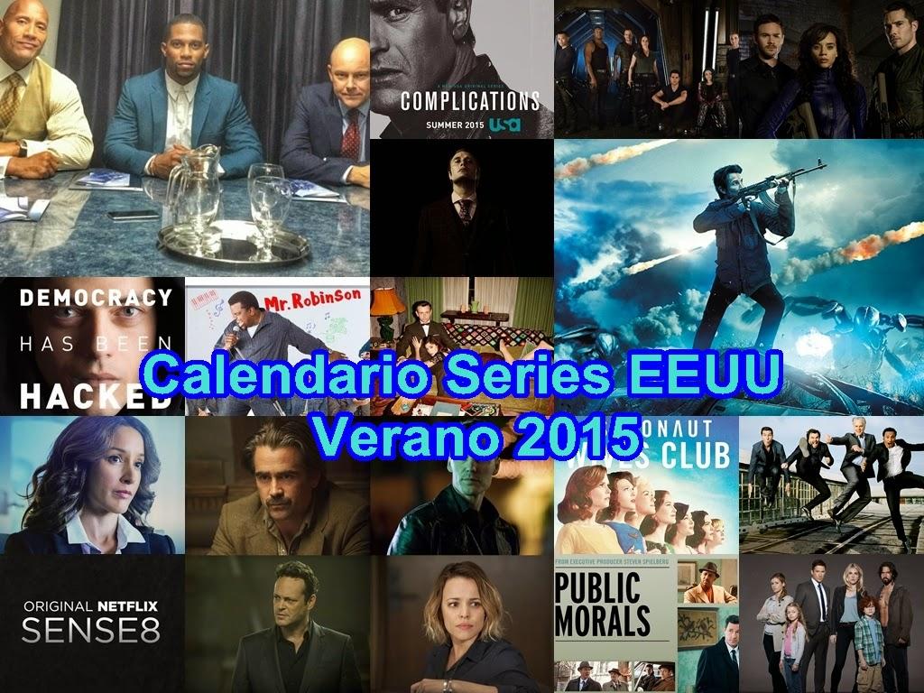 Calendario Series EEUU: Verano 2015