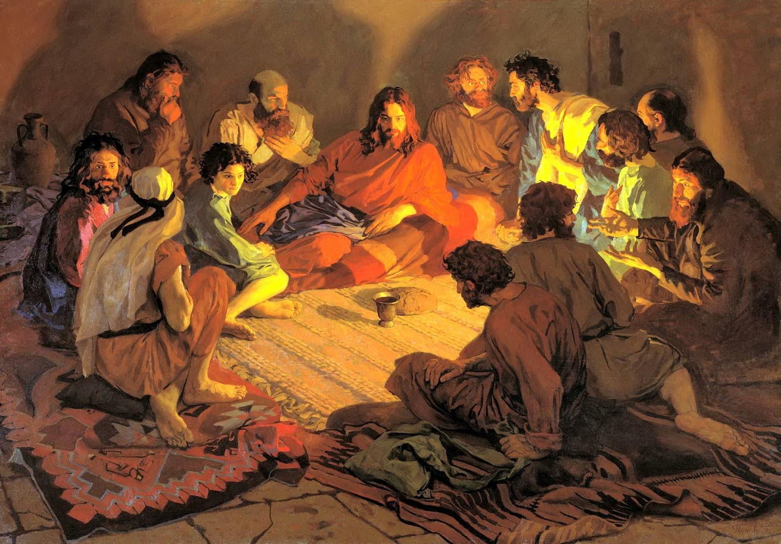 Тайная вечеря - описание в Библии и ...: www.bogobloger.ru/2012/04/blog-post_5315.html