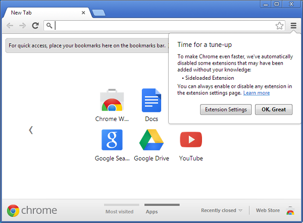 Google Chrome version 25 Screenshot