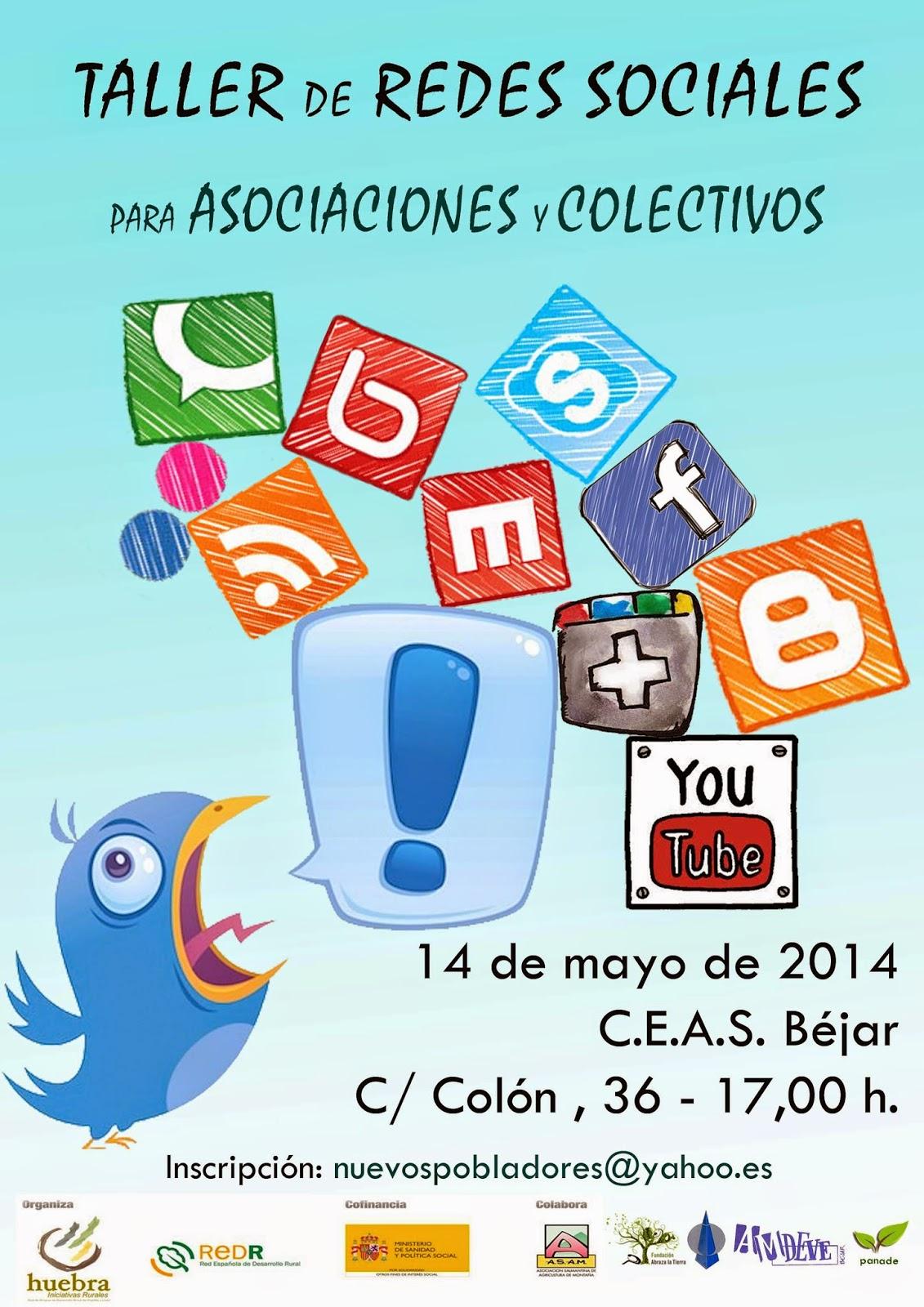taller redes sociales para asociaciones y colectivos en Béjar