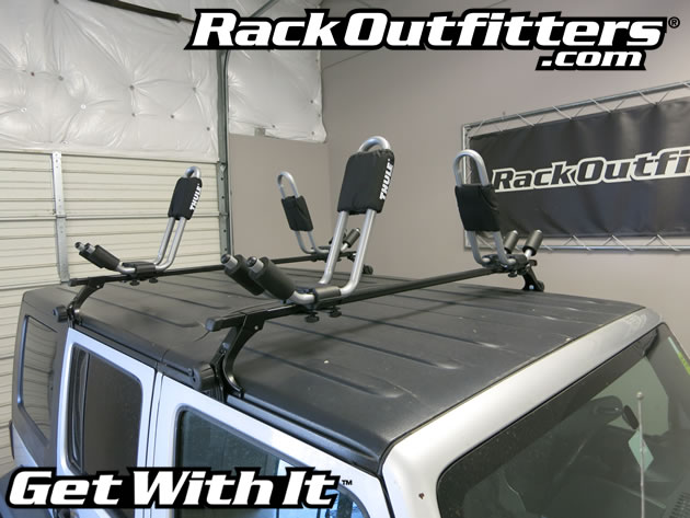 Jeep Wrangler Unlimited Thule Square Bar Roof Rack With