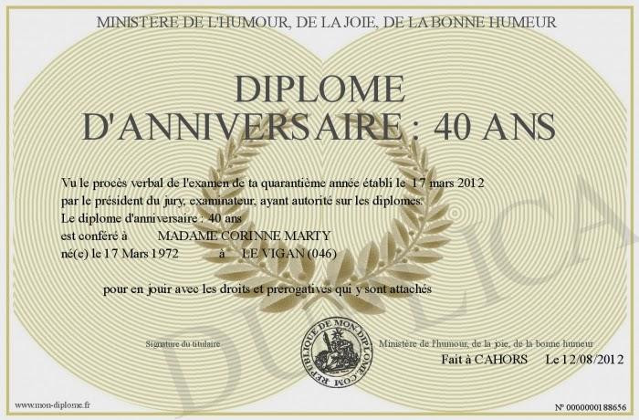 Citation 40 Ans Humour