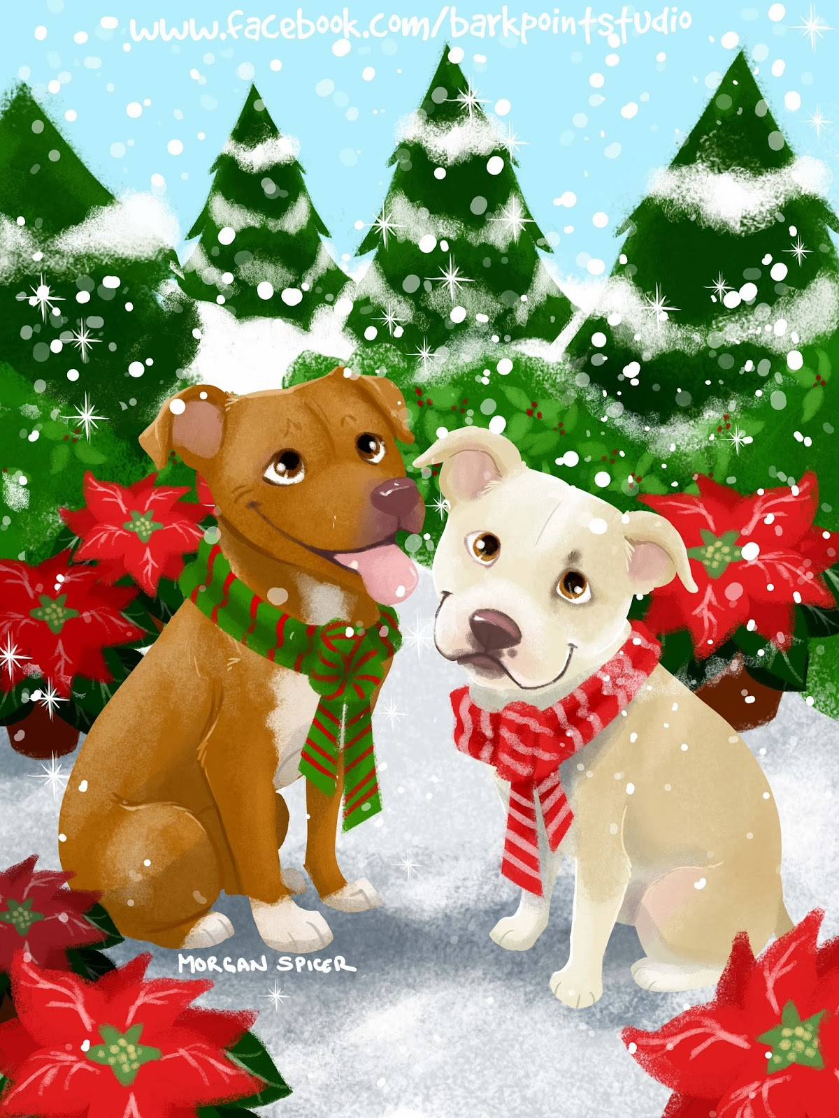 Holiday Themed Cards & Caricatures | Bark Point Studio
