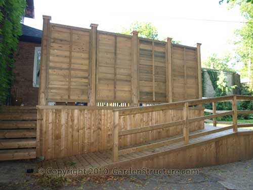 The business of building decks and fences privacy screens for Build deck privacy screen