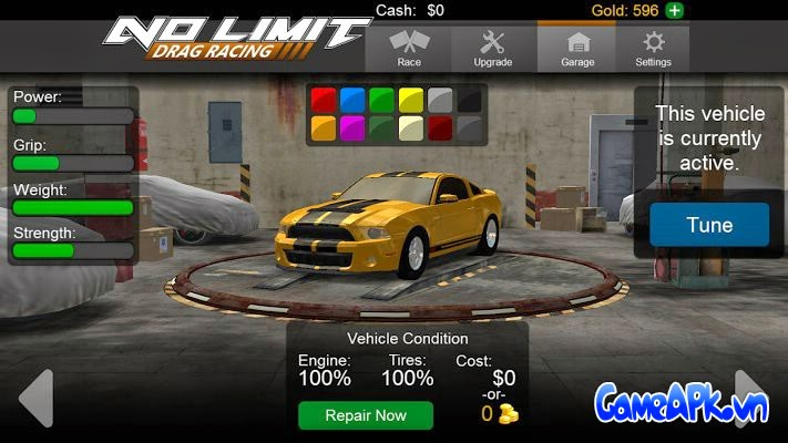 Скачать взломанную версию игры No Limit Drag Racing (обновлено v 1.21) Мод