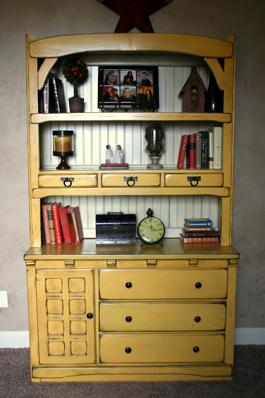 Exceptionnel Another Mustard China Hutch.