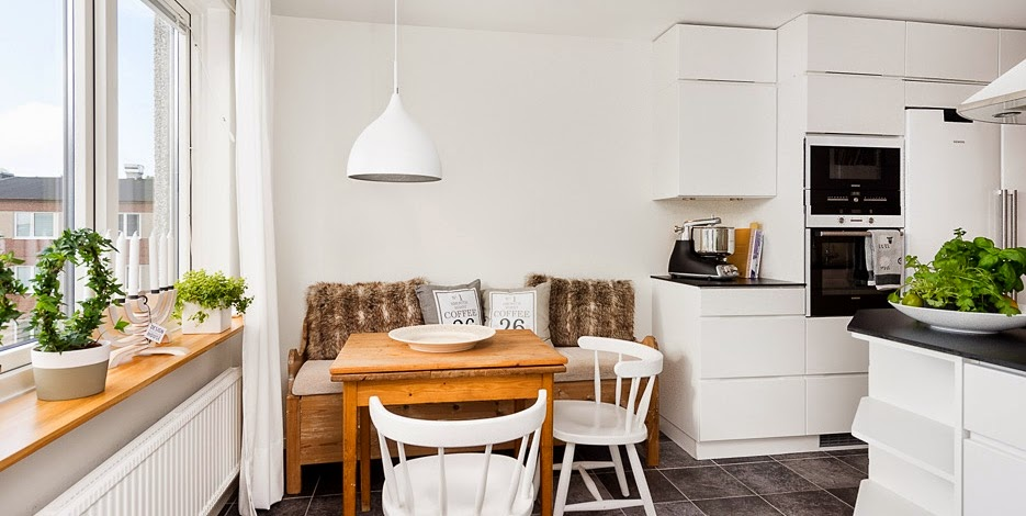 Como decorar el office de una cocina totalmente blanca boho deco chic - Como decorar una cocina ...