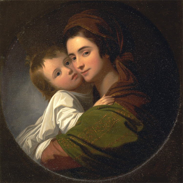 Benjamin West - The Artist's wife Elizabeth and their son Raphael