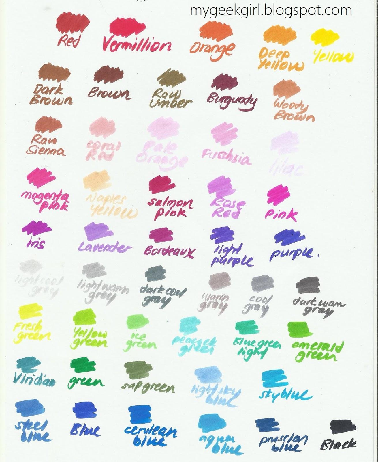 Color My Life: Sakura KOI Colouring Brush 48 Col. Set Review - Kay Kay