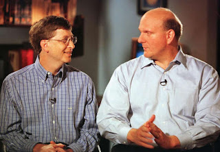 Bill Gates and Steve Ballmer, the new CEO