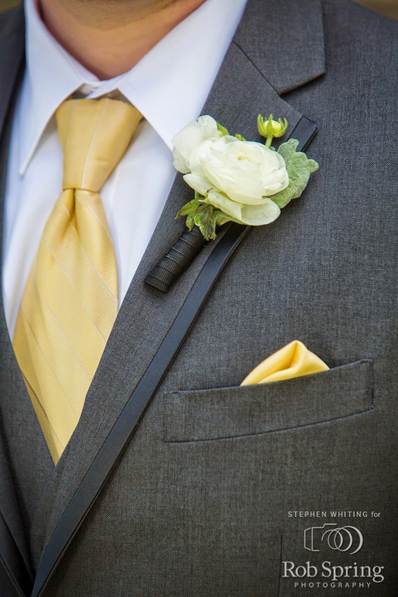 Ranunculus Boutonniere - Boutonnieres - Wedding Flowers - Groom - Usher - Best Man - Groomsmen - Ushers - Groom's Boutonniere