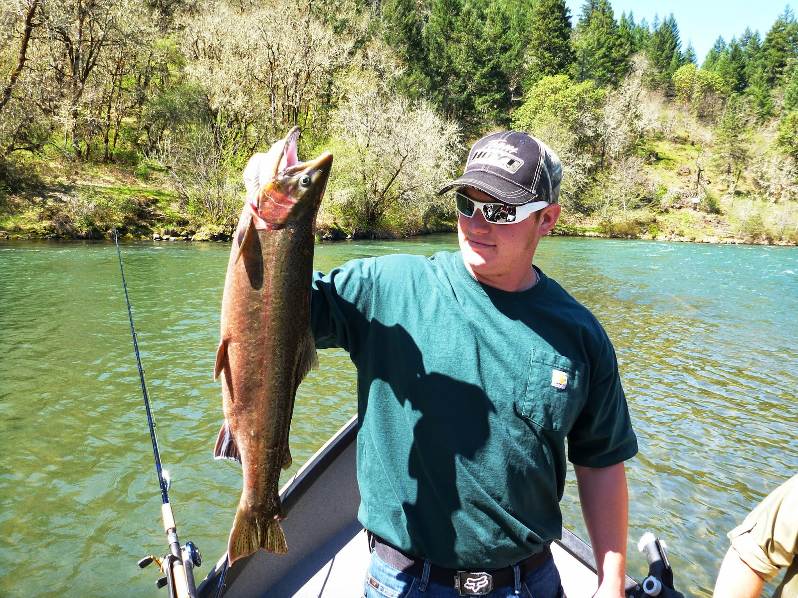 Steelhead fishing with Ironhead Guide Service.