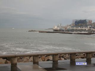 Mar del Plata - Playa día nublado